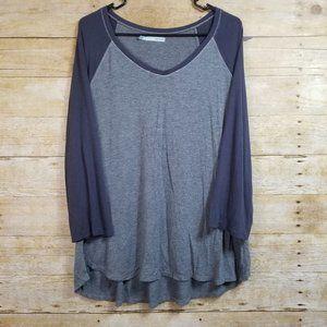 Maurices Gray & Blue Raglan Shirt Size XXL